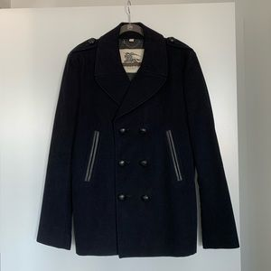 Men's Burberry Double Breasted Pea Coat